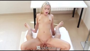 Sophia Leone begs her boyfriend to give it to her very hard